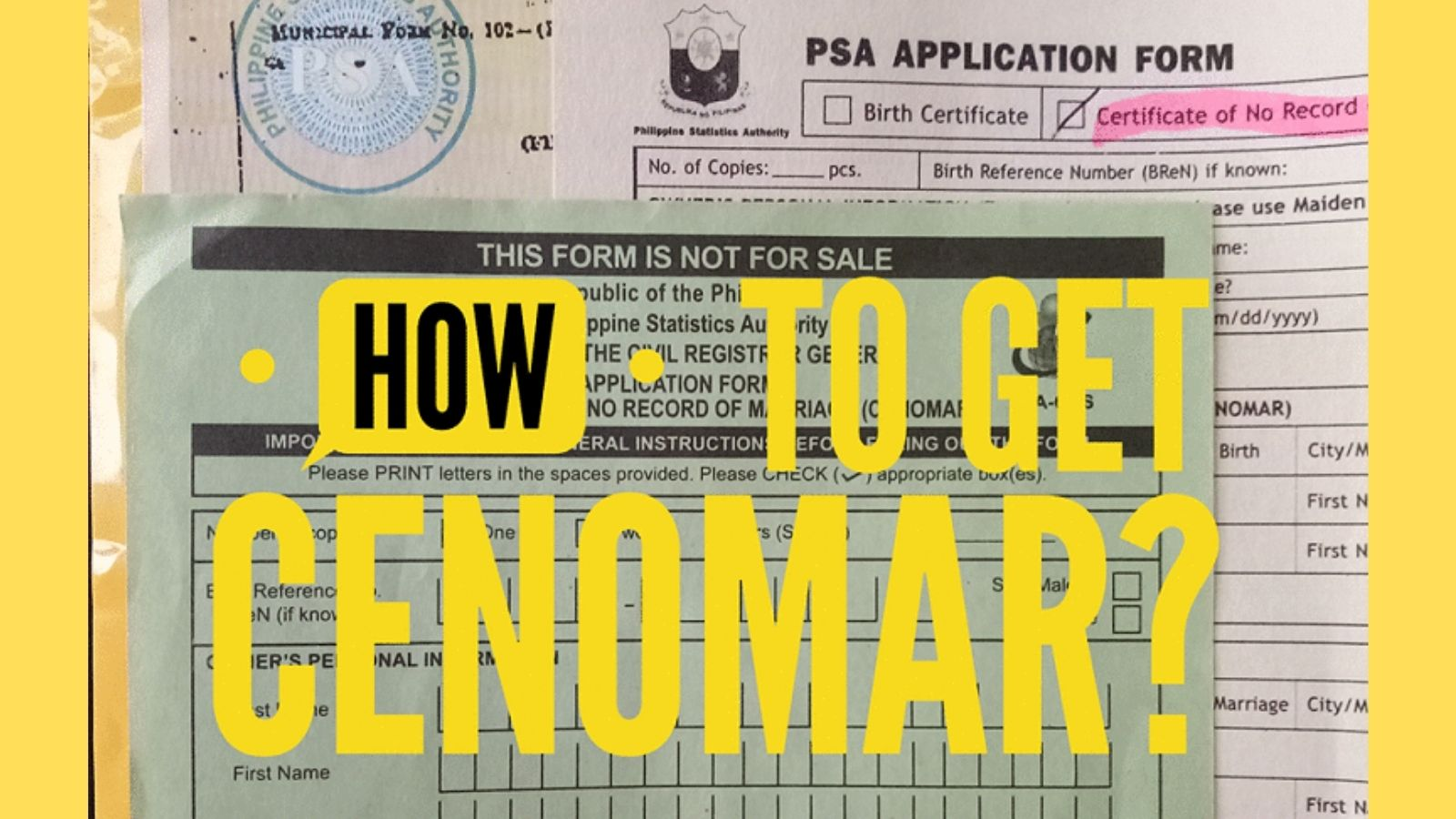 how to get psa cenomar online and abroad
